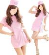 Tenue infirmière nurse (robe, string, coiffe)