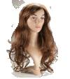 P3: Cheveux châtains, longs et ondulés