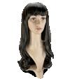 P12: Cheveux bruns, longs et ondulés