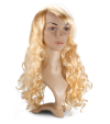 P1: Cheveux blonds, longs et ondulés